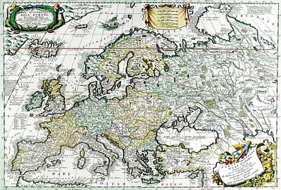 Map Painting - Antique Map by Baltzgar