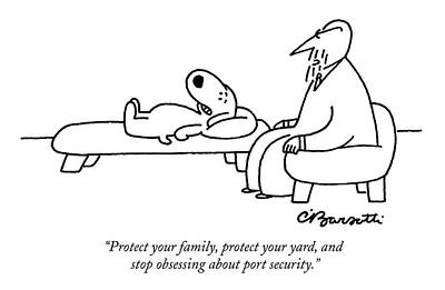 Terrorism Drawing - Untitled by Charles Barsotti