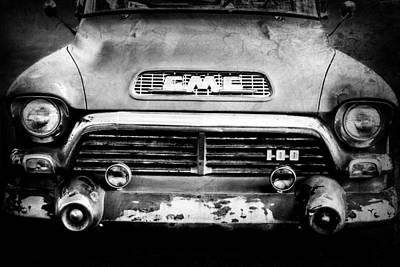 Gmc Photograph - 1957 Gmc V8 Pickup Truck Grille Emblem by Jill Reger