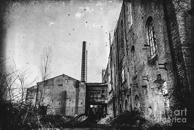 Building Factory Work Vintage Photograph - This Is The Way Step Inside by Traven Milovich