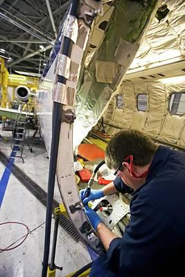 Hangar Photograph - Aircraft Maintenance by Jim West