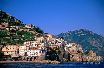 Sea Photograph - Amalfi Town In Italy by George Atsametakis
