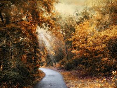 Autumn Trail Print by Jessica Jenney