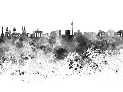 Berlin Germany Painting - Berlin Skyline In Watercolor On White Background by Pablo Romero