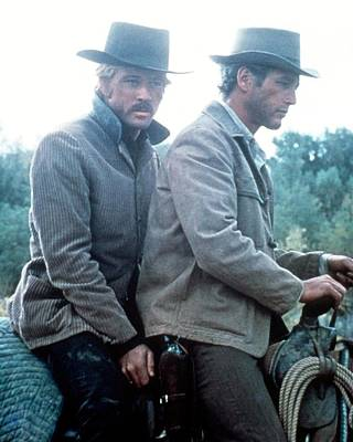 Butch Cassidy And The Sundance Kid  Print by Silver Screen