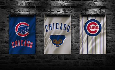 Uniforms Photograph - Chicago Cubs by Joe Hamilton