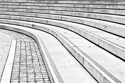 Entrance Memorial Photograph - Concrete Steps by Tom Gowanlock