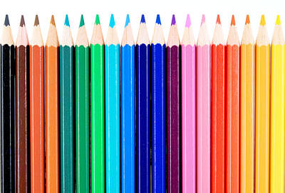 Crayons Print by Chevy Fleet