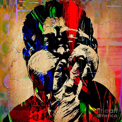 Musicians Mixed Media - Dizzy Gillespie Collection by Marvin Blaine