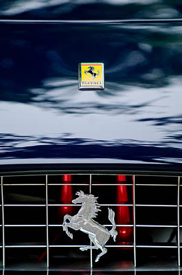 Car Show Photograph - Ferrari Hood Emblem by Jill Reger