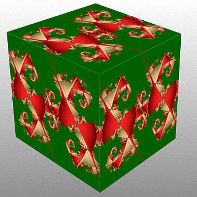 Christmas Painting - Fractal Cube by Bruce Nutting
