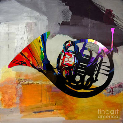 French Horn Print by Marvin Blaine