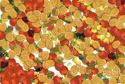 Fruit And Vegetable Print by Odon Czintos
