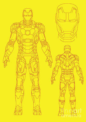 Illusttation Digital Art - Iron Man by Caio Caldas