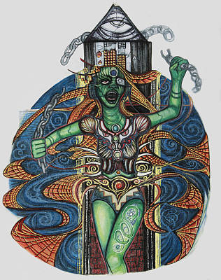 Hindu Goddess Drawing - 8 by Jessica McLellan