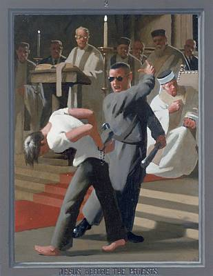 8. Jesus Before The Priests / From The Passion Of Christ - A Gay Vision Original by Douglas Blanchard