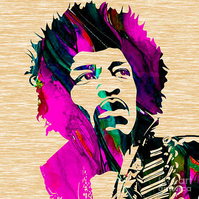 Musician Mixed Media - Jimi Hendrix Collection by Marvin Blaine
