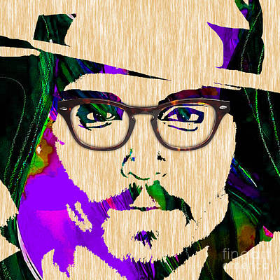 Actors Mixed Media - Johnny Depp Collection by Marvin Blaine