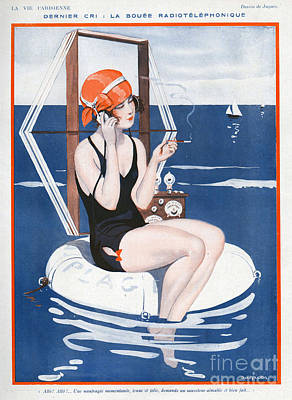 Womens Drawing - La Vie Parisienne  1923 1920s France by The Advertising Archives