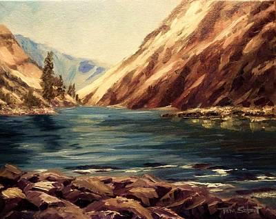 Salmon River Idaho Painting - Lower Salmon River Idaho by Tom Siebert