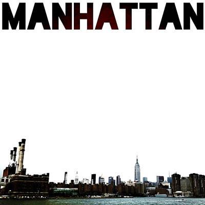 New York City Digital Art - Manhattan by Natasha Marco