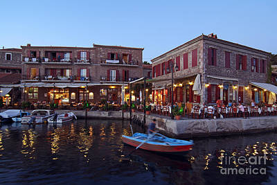 Village Photograph - Molyvos Village During Dusk Time by George Atsametakis