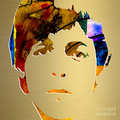 Mccartney Mixed Media - Paul Mccartney Gold Series by Marvin Blaine