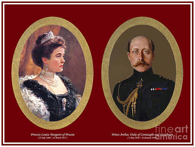 Connaught Painting - 8. Prince Arthur Duke Of Connaught And Strathearn And Princess Louise Margaret Of Prussia Print  by Royal Portraits