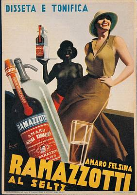 Gino Photograph - Private Collection. Advertising Poster by Everett