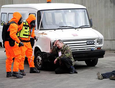 Terrorist Photograph - Radiation Emergency Response Training by Public Health England