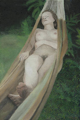 Outdoor Nude Painting - Summer Afternoon by Masami Iida