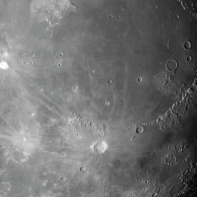 Surface Of The Moon Print by Detlev Van Ravenswaay