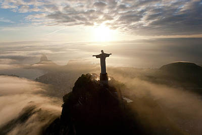 Redeemer Photograph - The Art Deco Statue Of Jesus, Known by Peter Adams