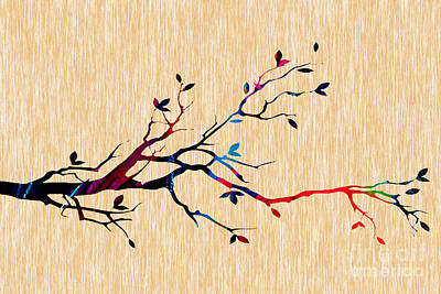 Tree Branch Collection Print by Marvin Blaine
