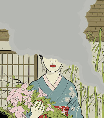 Bamboo Digital Art - Untitled by Adrian Tomine