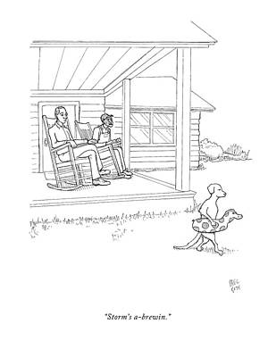 Pool Drawing - Untitled by Paul Noth