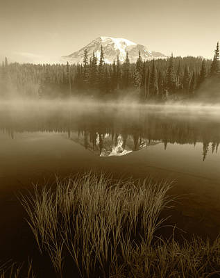 Adam Photograph - Usa, Washington State, Mount Rainier by Adam Jones