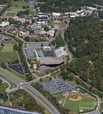 Western Carolina University Campus Print by David Oppenheimer