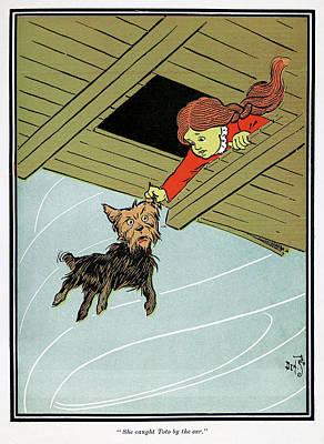 Tornado Drawing - Wizard Of Oz, 1900 by Granger