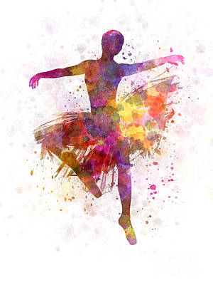 Shadow Dancing Painting - Woman Ballerina Ballet Dancer Dancing by Pablo Romero