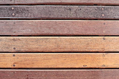 Edgy Photograph - Wood Background by Tom Gowanlock
