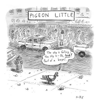 Pigeon Drawing - Untitled by Roz Chast