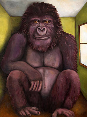 800 Pound Gorilla In The Room Edit 2 Original by Leah Saulnier The Painting Maniac