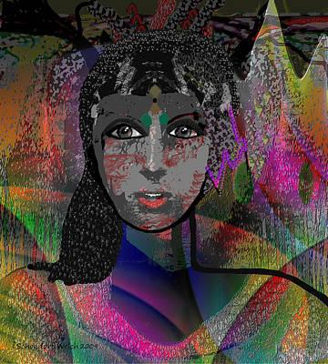 Digi-art Digital Art - 823 - Her Proud  Colours --- by Irmgard Schoendorf Welch