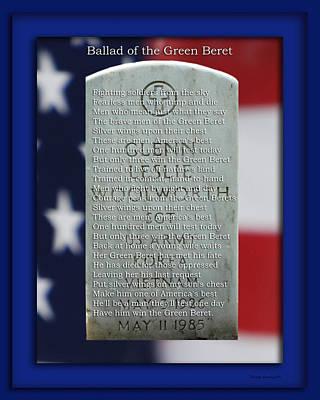 82nd Airborne Green Beret At Arlington National Print by Thomas Woolworth