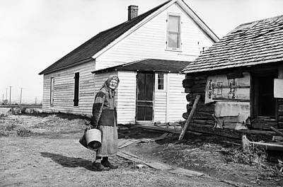 Artist Working Photograph - 83 Year Old Ranch Owner Operator Boss Cook - 1949 - Montana by Donald  Erickson