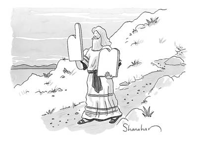 Moses Drawing - Untitled by Danny Shanahan