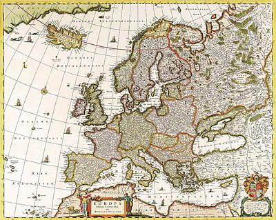 1640 Painting - Antique Map by Baltzgar