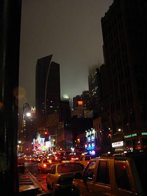 8th Ave Before New York Times Building Print by Mieczyslaw Rudek Mietko