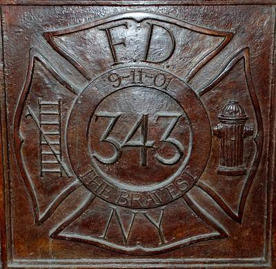 Firefighter Photograph - 9 11 01 F D N Y 343 by Rob Hans